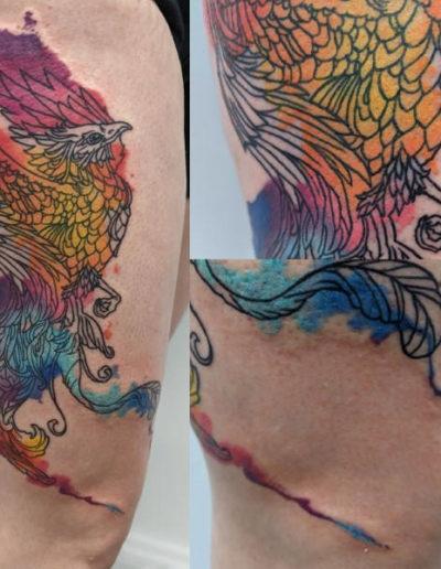 large bird tattoo