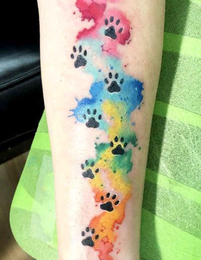 dog paws tattoo